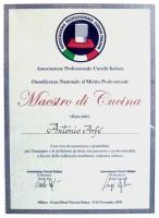 Antonio Arfè - Maestro di Cucina Attestato