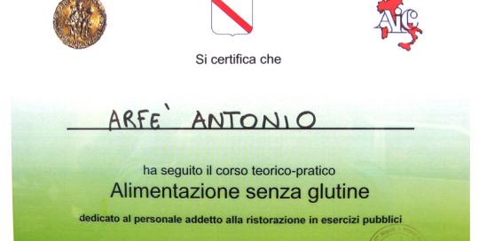 Certificazione Alimentazione senza Glutine