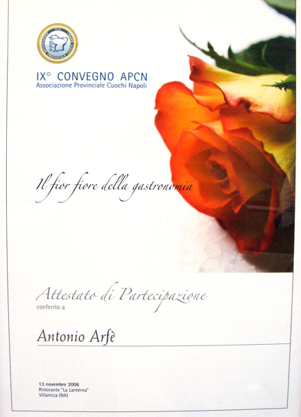 IX Convegno Associazione Provinciale Cuochi Napoletani
