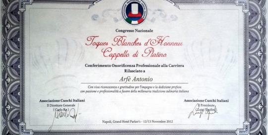 Toques Blanches d'Honneur Napoli 2012