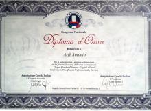 Conferimento Onoreficenza Professionale alla Carriera